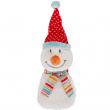 Bonhomme de neige avec coussin en noyaux de cerise