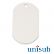Sublimation Military Dog Tag - White gloss - Pack of 5 units