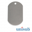 Sublimation Military Dog Tag - Silver gloss - Pack of 5 units