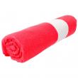 Serviette de plage pour sublimation en microfibre avec liteau - Rouge