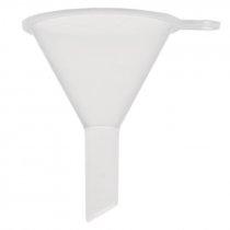 Mini embudo de plastico transparente