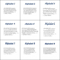 Ampliación para Embird - Alphabets 1 al 9