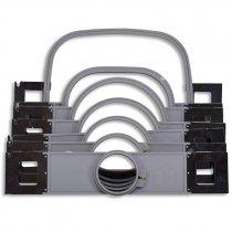 Bastidores tubulares de plástico compatibles con Melco Amaya XT/XTS y Melco EMT16