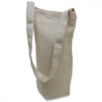 Bolsa para botella de tejido símil lino
