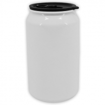 Bote de aluminio forma lata con tapa