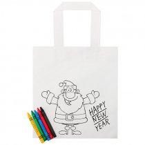 Bolsa para colorear Papa Noel - Pack 10 uds