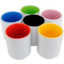 Bote de cerámica para sublimación de 11oz con interior de color