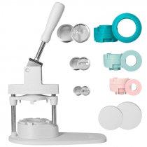 Button Press Bundle We R - Máquina para hacer chapas - Kit 104 piezas + moldes
