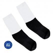 Calcetines para sublimación con base negra de algodón