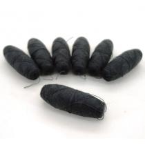 Canillas cocón Poliéster 100% Solidez sublimación termofijada PS100/2 - N7 Negro - Bolsa 2,50Kg