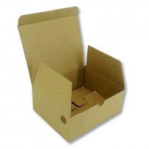 Caja estuche A7 185 x 150 x 75 mm pack 50 uds - Abierta