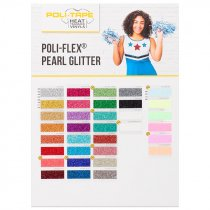 Carta de colores para vinilos Poli-Flex® Pearl Glitter - Edición 2021