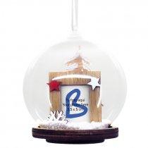 Colgante bola de nieve para árbol de Navidad serie Hessa