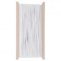 Cordón elástico de 2mm blanco - Bobina de 25mts
