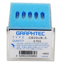 Cuchillas de corte Graphtec de 45º CB09UB - Pack de 5 uds abierto