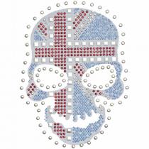 Diseño multitransfer Calavera fondo bandera UK