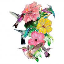 Diseño Multitransfer Colibrís y flores