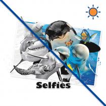 Diseño transfer solar Ocean Selfie - Pack de 3 uds