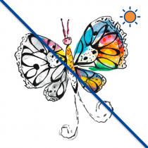 Diseño transfer Solar Butterfly