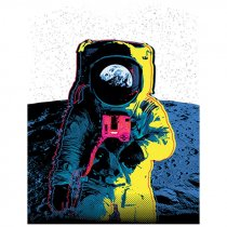 Diseño Transfer Colorful Astronaut
