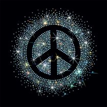 Diseño pedrería simbolo de la Paz