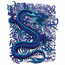 Diseño Transfer Blue Dragon - Sin fondo