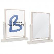 Espejo de tocador con portafotos
