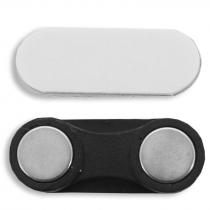Porte-badge magnétique avec plaque adhésive - Sac de 10 unités