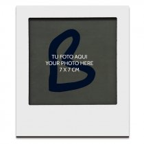 Imán portafotos de madera para sublimación tipo Polaroid