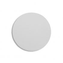 Lámina circular de aluminio blanco brillo de 60mm