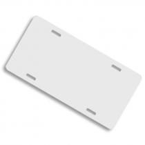Matrícula de aluminio blanco brillo