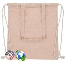 Bolsa mochila de algodón reciclado