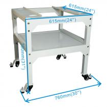 Mesa accesoria con ruedas para Ricoma EM-10