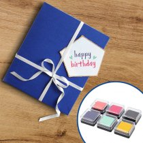 Mini Ink Pads We R - Kit de 6 almohadillas tintadas para sellos