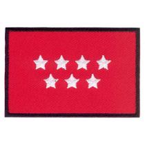 Parche bordado bandera de Madrid pack 3 uds