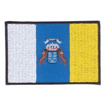 Parche bordado bandera de Canarias pack 3 uds