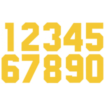 Números Dorsales Termoadhesivos de Tela American