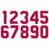 Números Dorsales Termoadhesivos de Tela American 2D