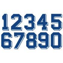 Números Dorsales Termoadhesivos de Tela American 3D
