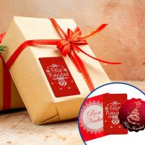 Pegatinas para regalos de Navidad