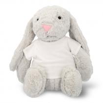 Peluche conejo con camiseta para sublimación de 30cm