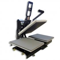 Plancha transfer Magnetic doble plato de 40x50cm - Lateral abierta