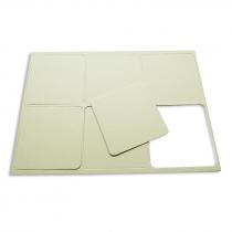 Posavasos cuadrado de cartón para sublimación - Hoja A4 con 6 uds