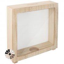 Portafotos hucha de madera para sublimación y sus láminas