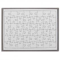 Puzzle de cartón de 48 piezas con marco transportador