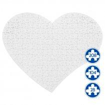 Puzzle de cartón para sublimación forma corazón