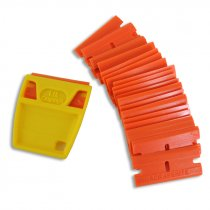 Rasqueta anti-rasguños con 25 cuchillas de plástico