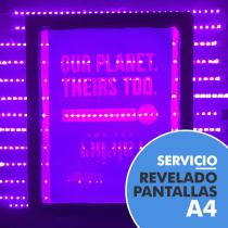 Servicio de revelado de pantallas A4
