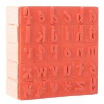 Sellos abecedario de madera - 30 piezas