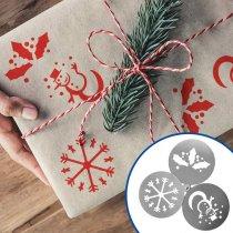 Set de 3 plantillas de Navidad en acero inoxidable